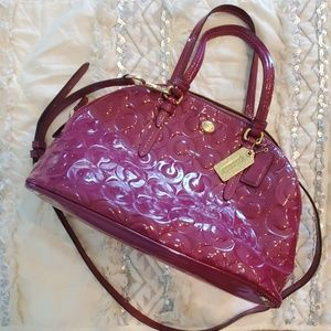 Coach Peyton Op Art Dome Bag in Pink Patent